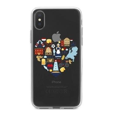 Lopard iPhone Xs Max Kılıf Silikon Arka Koruma Kapak Amsterdamı Seviyorum Desenli Renkli